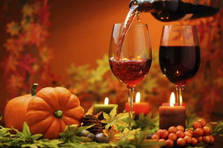 Image result for pumpkins and wine